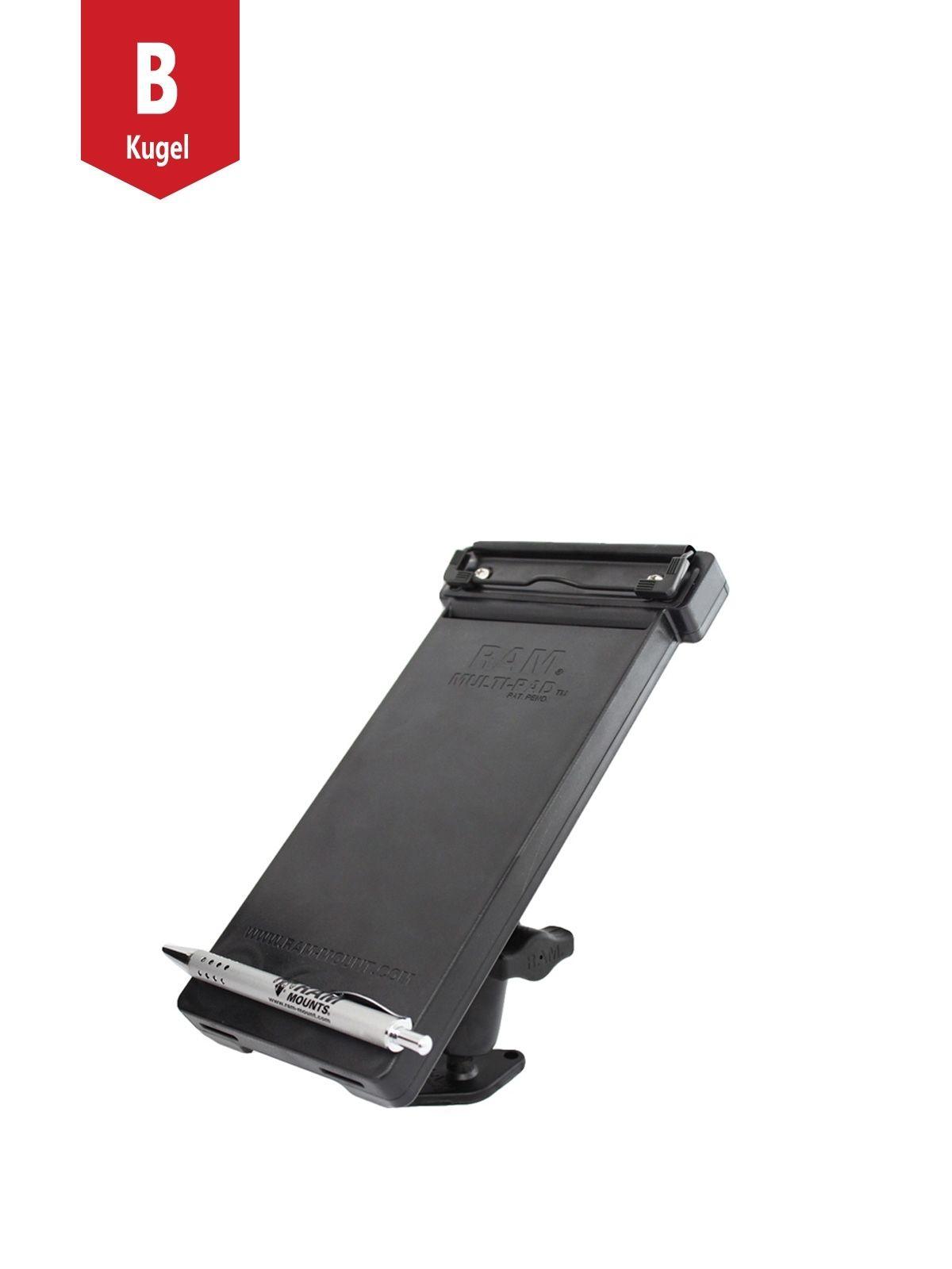 RAM Mounts Aufbau-Halterung mit Notizblock-Tray - B-Kugel (1 Zoll), mit Diamond-Basisplatte (Trapez)