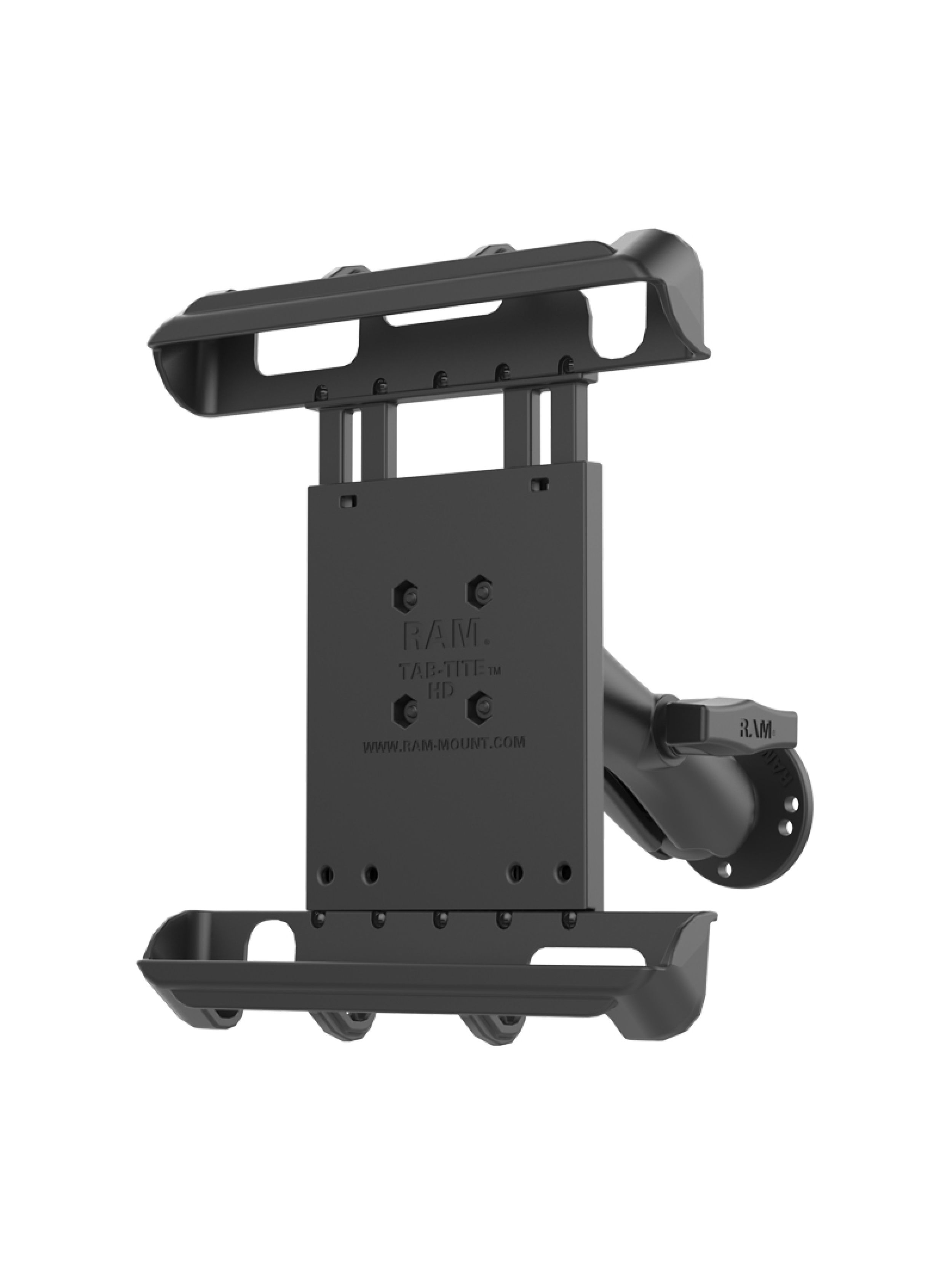 RAM Mounts Tablet-Halterung 10 Zoll Tablets - C-Kugel (1,5 Zoll), mit Aufbau-Set, AMPS-4-Loch