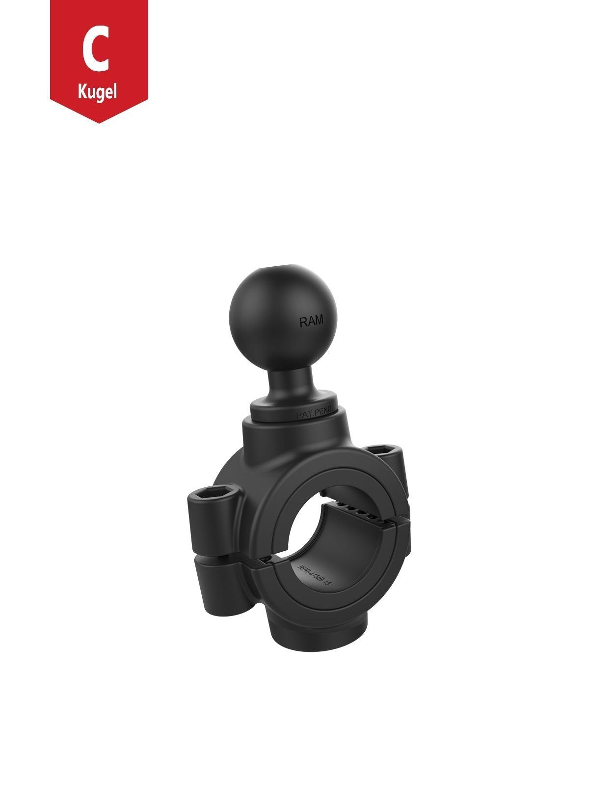 RAM Mounts Torque Rohrschelle - 38,1-50,8 mm Durchmesser, Pin-Lock C-Kugel (1,5 Zoll), im Polybeutel