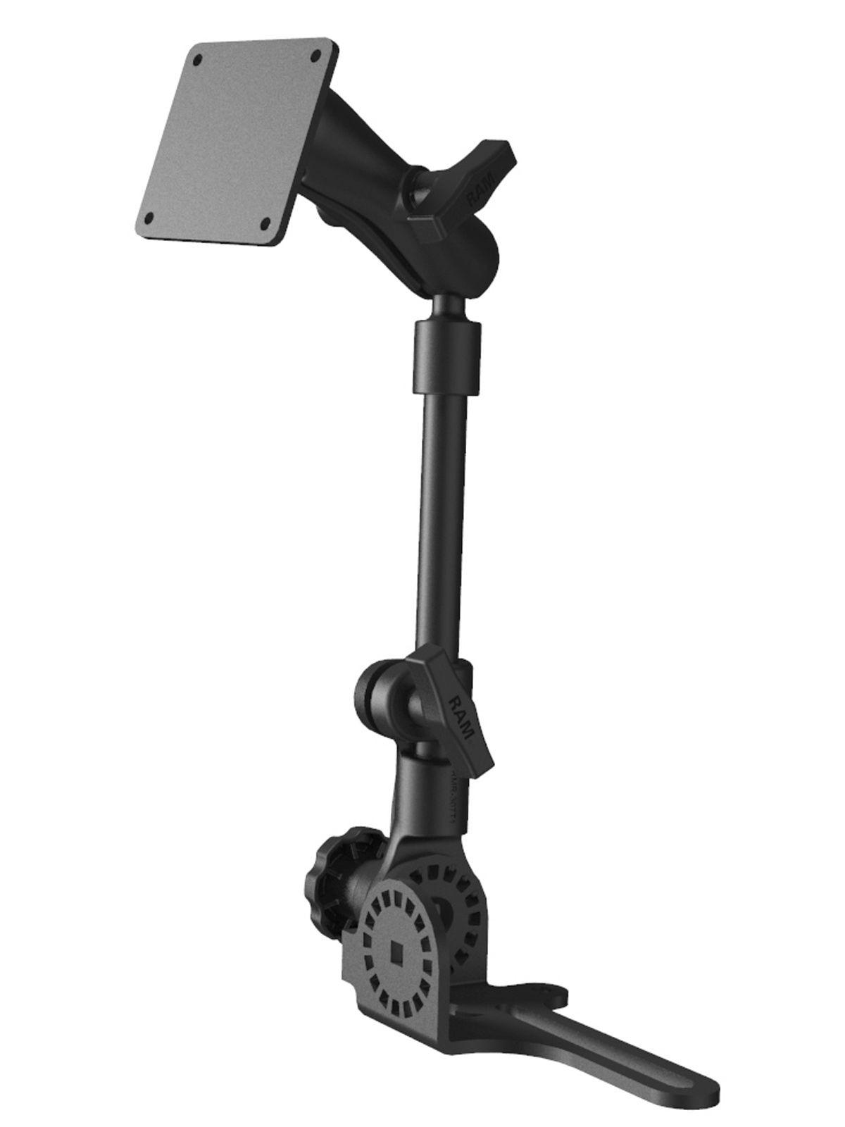 RAM Mounts Pod HD Universal Fahrzeughalterung mit VESA-Anbindung - Ratchet-System, max. 80 cm hoch, mittlerer Verbindungsarm, VESA-Platte, C-Kugel (1,5 Zoll)