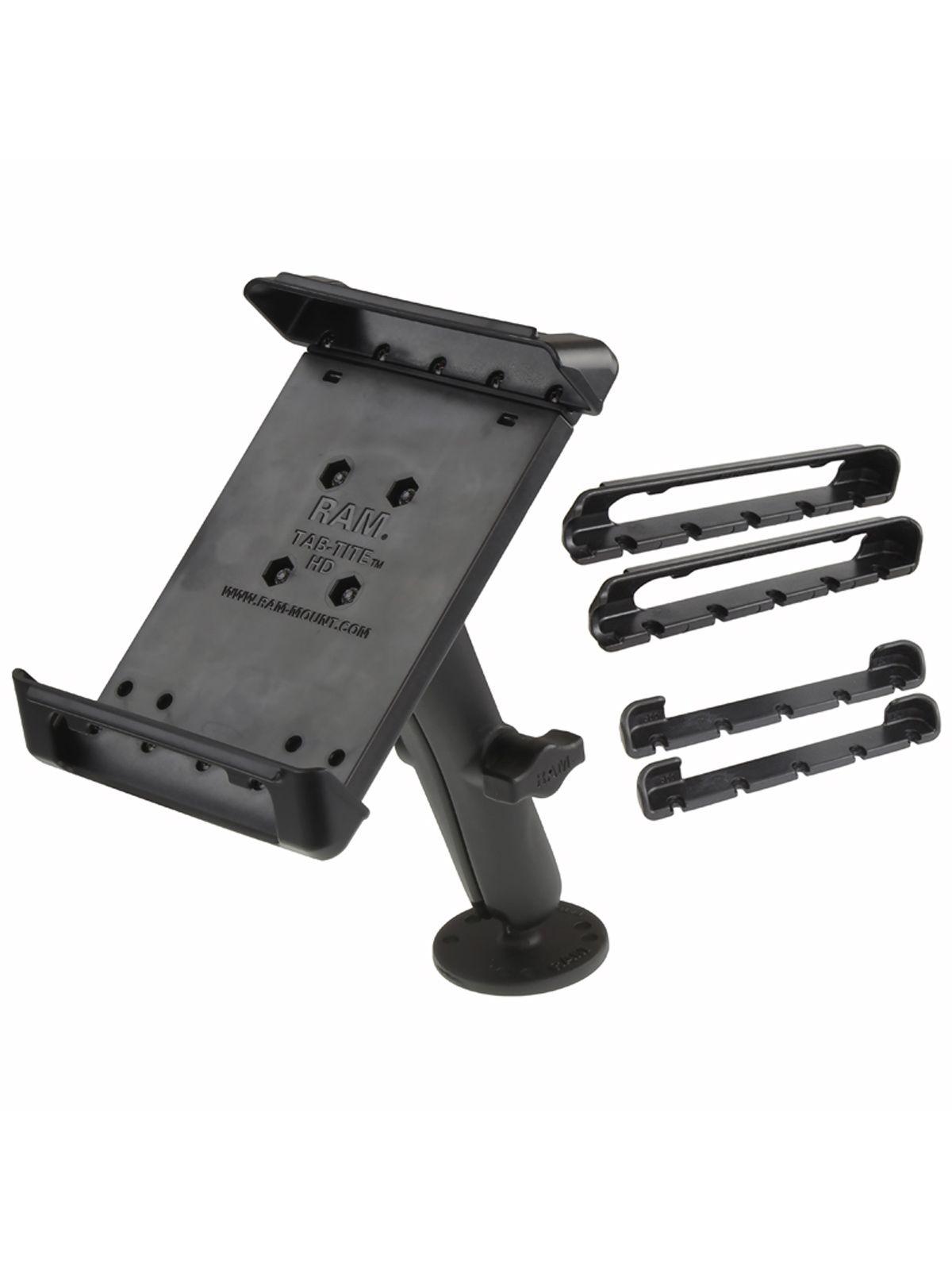RAM Mounts Aufbau-Halterung 7 Zoll Tablets - B-Kugel (1 Zoll), runde Basisplatte (AMPS), langer Verbindungsarm