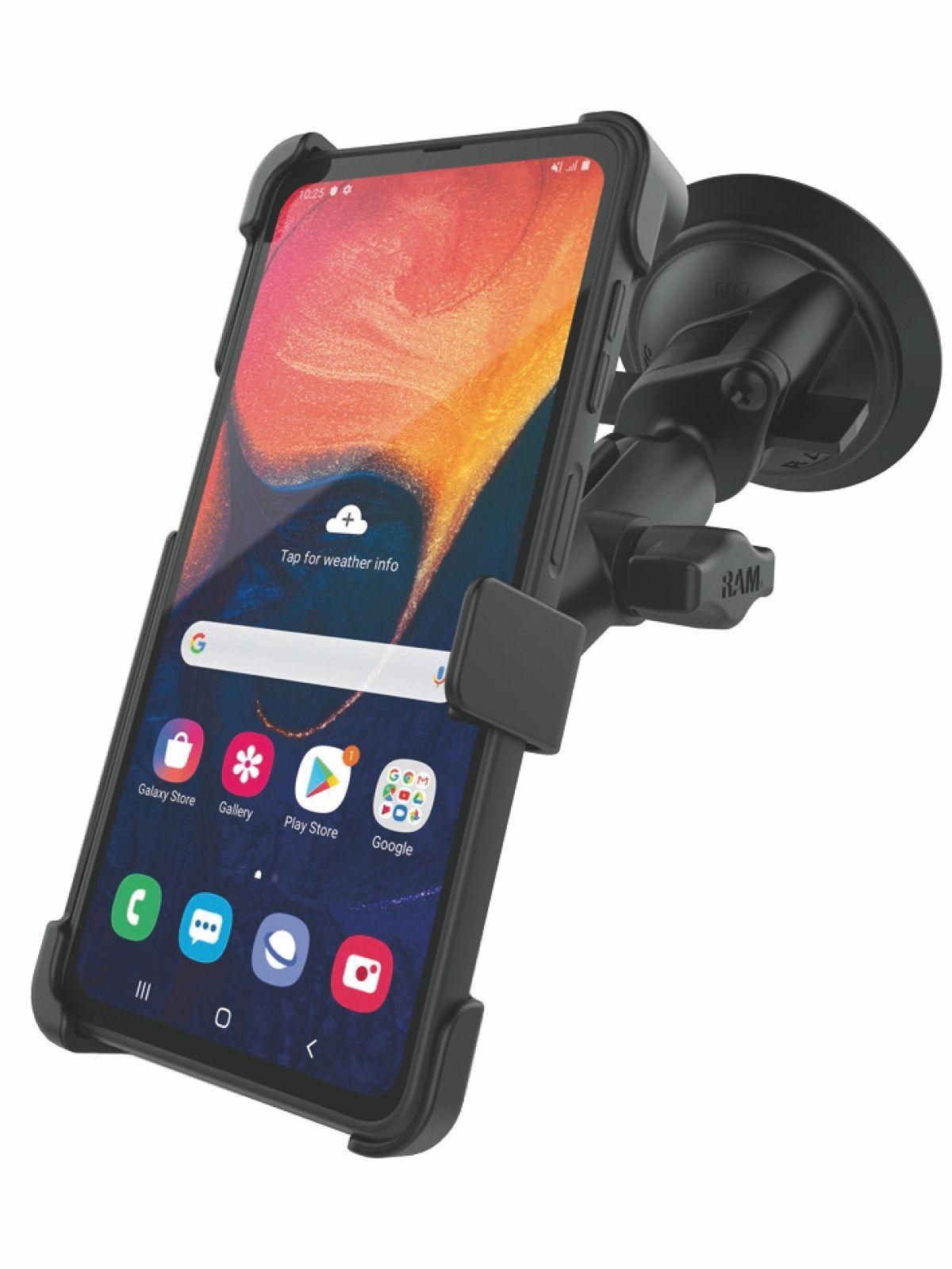 RAM Mounts Saugfuss-Halterung Samsung XCover Pro - B-Kugel (1 Zoll), mittlerer Verbindungsarm