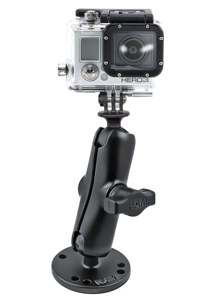 RAM Mounts GoPro Aufbau-Kamerahalterung - mit runder Basisplatte (AMPS), B-Kugel (1 Zoll)