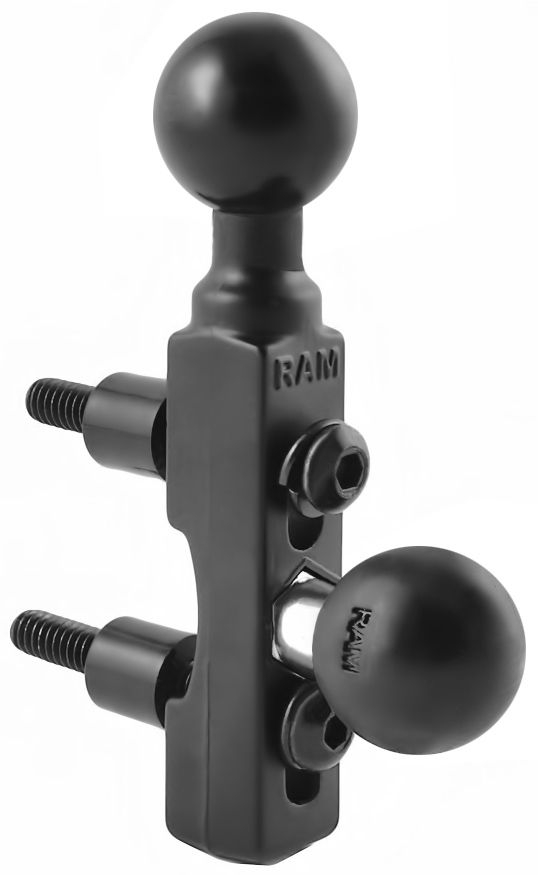 RAM Mounts Motorrad-Basisbefestigung Lenker/Bremse/Kupplung mit zusätzlicher Kugel - B-Kugel (1 Zoll)