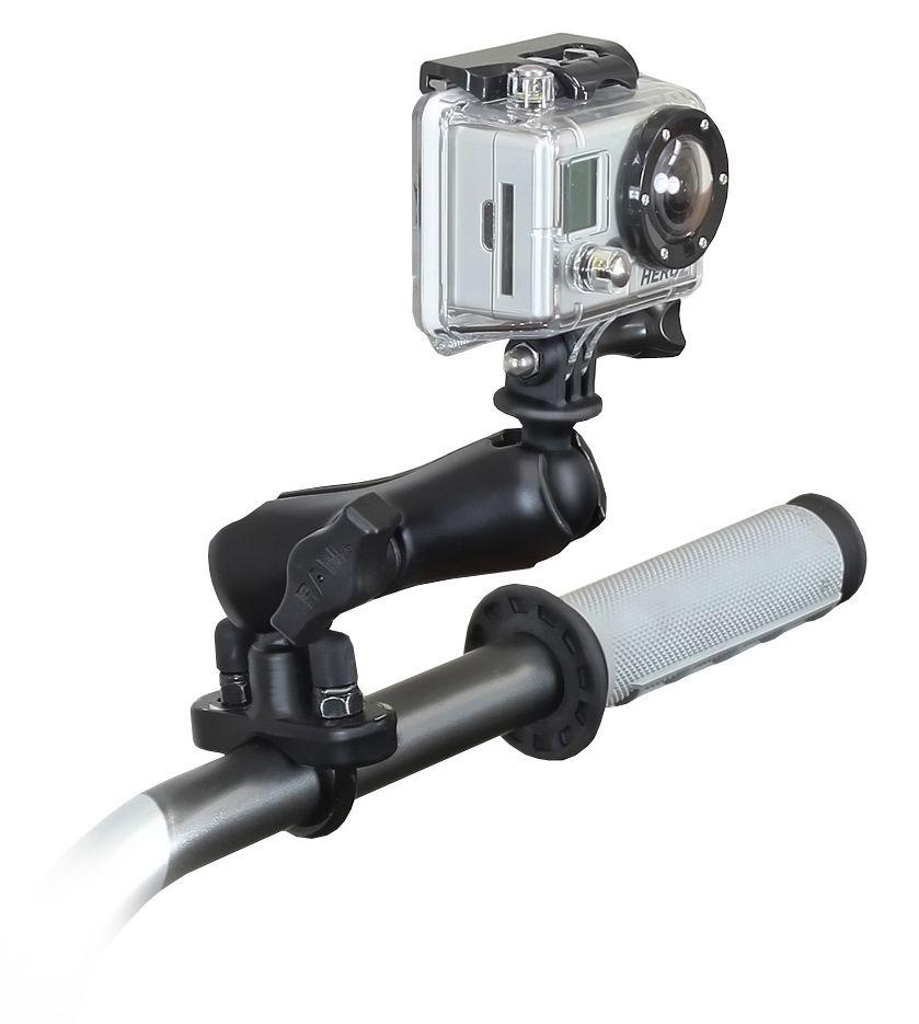 RAM Mounts GoPro Kamerahalterung für Lenker/Rohre - mit Klemmschelle, B-Kugel (1 Zoll)