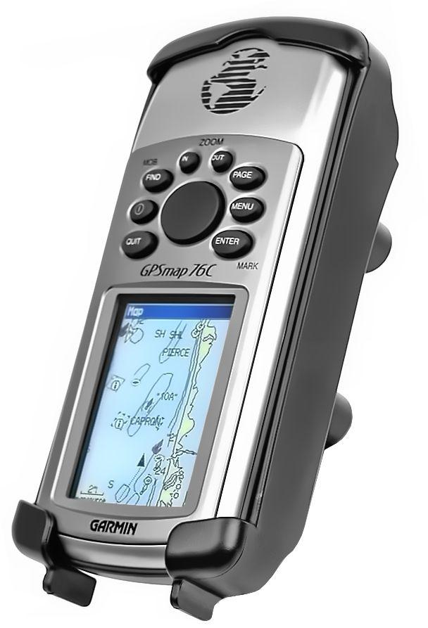 RAM Mounts Gerätehalteschale für Garmin GPSMAP  76/76C/76CSx/96/96C (ohne Schutzhüllen) - Diamond-Anbindung (Trapez), Schrauben-Set, im Polybeutel