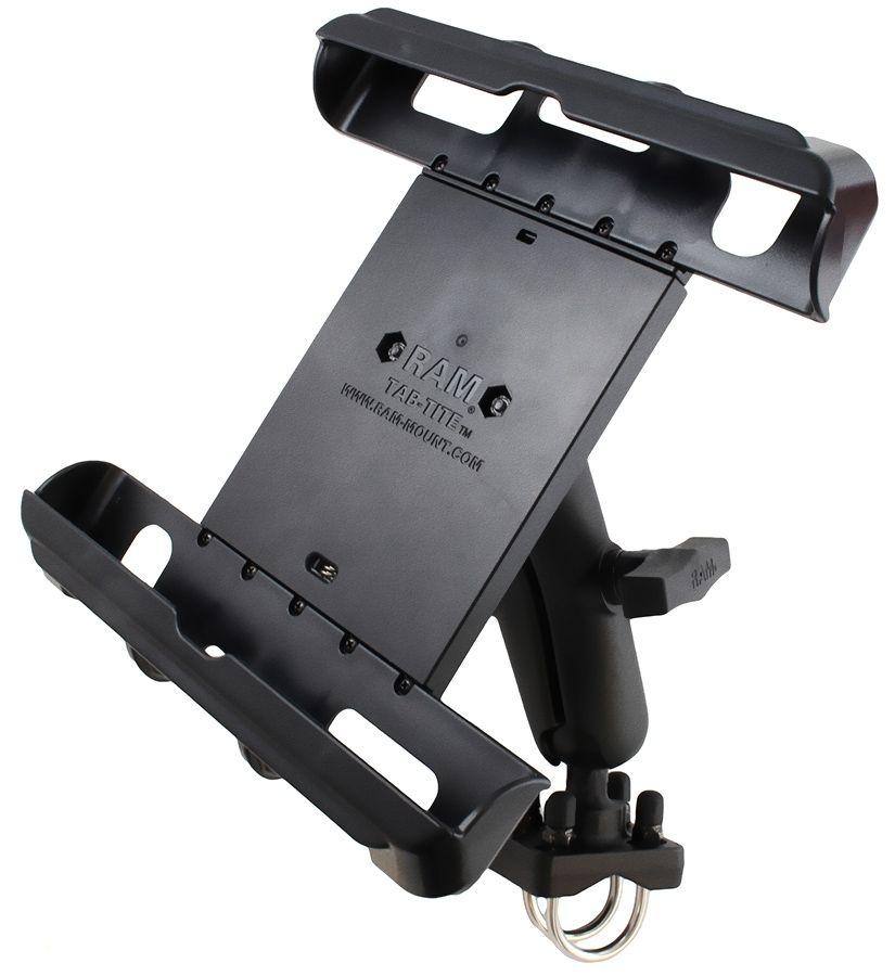 RAM Mounts Universal Tab-Tite Set für 10 Zoll Tablets - mit Doppel-Rohrschelle, C-Kugel (1,5 Zoll), im Polybeutel