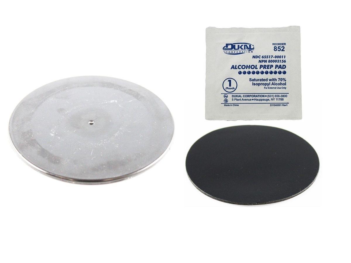 RAM Mounts Klebebasis für Saugfüsse - durchsichtige Basis (ca. 90 mm Durchmesser), im Polybeutel