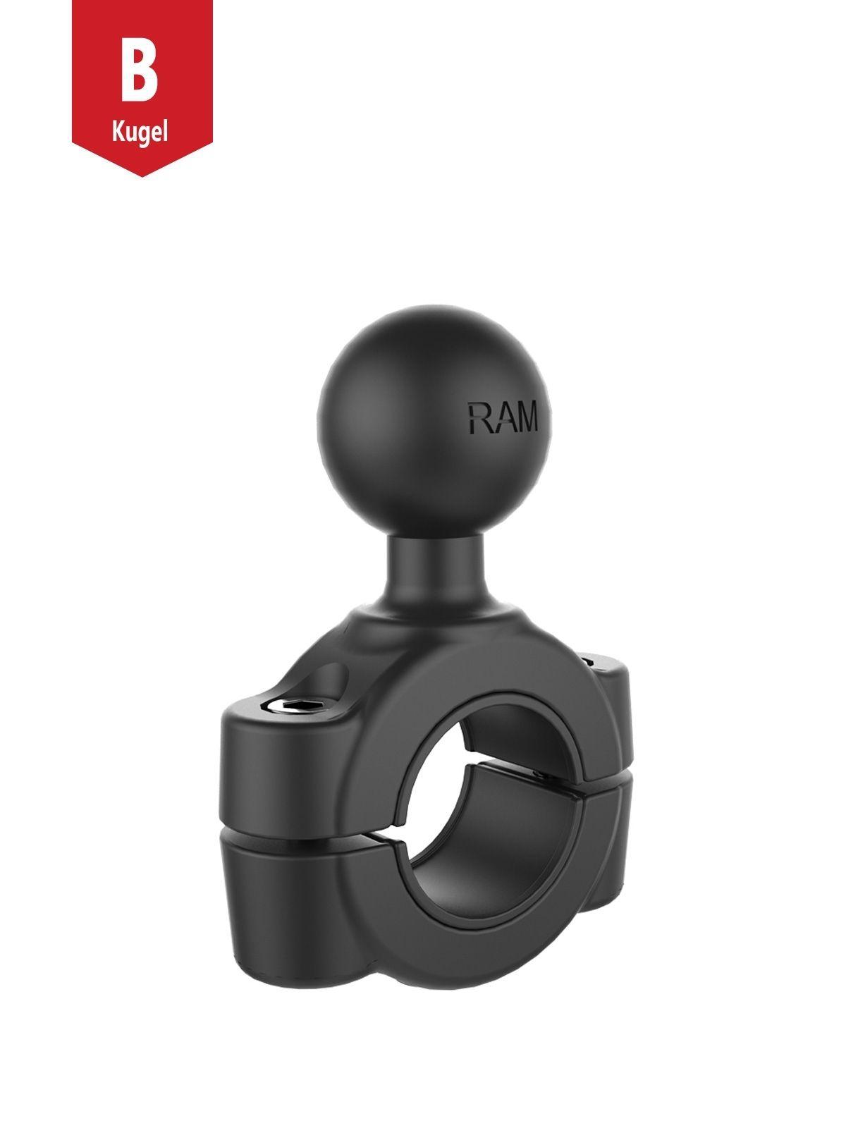 RAM Mounts Torque Rohrschelle - für 19,1-25,4 mm Durchmesser, B-Kugel (1 Zoll), im Polybeutel