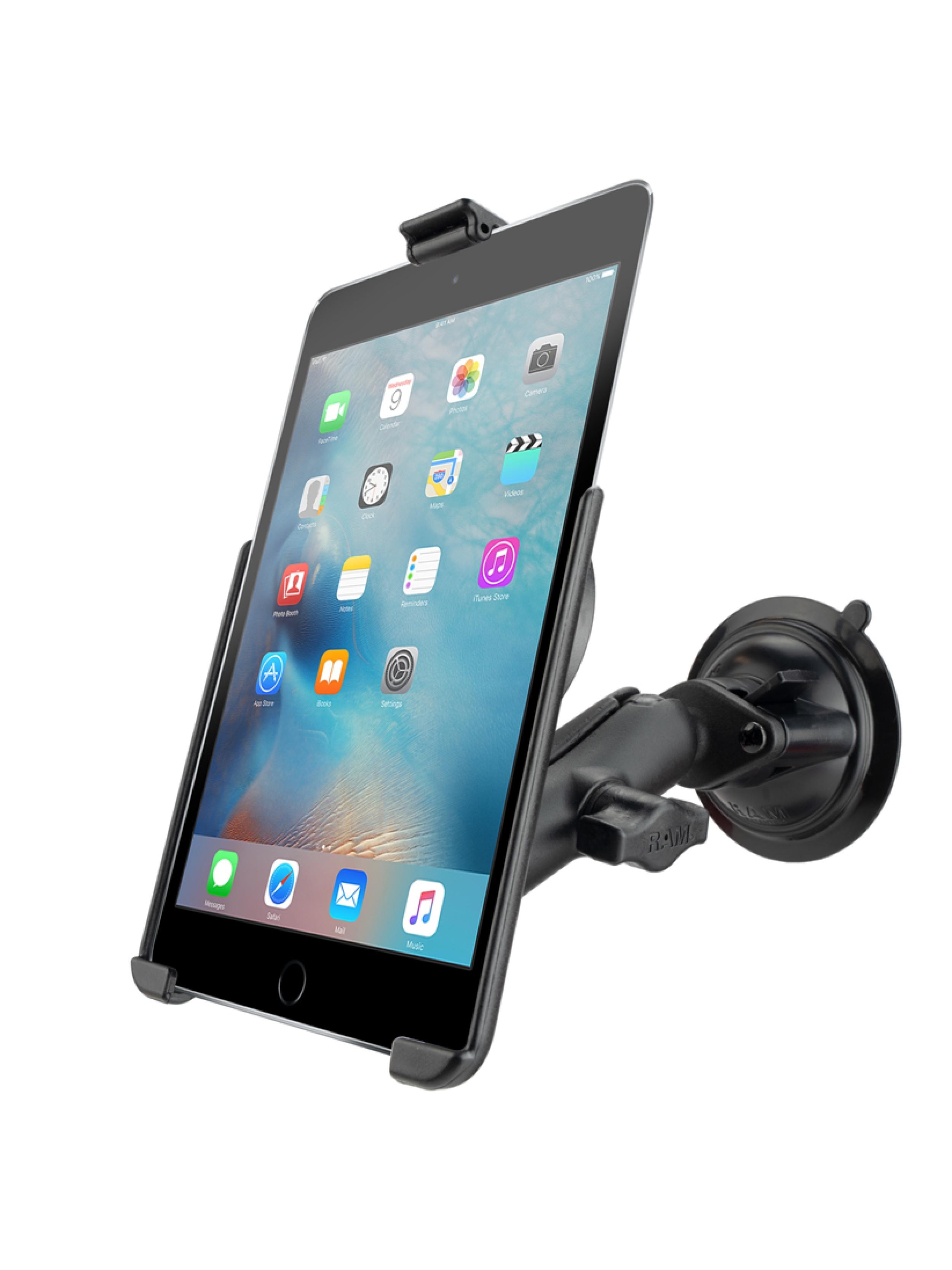 RAM Mounts Saugfuss-Halterung Apple iPad mini 4/5 - B-Kugel (1 Zoll), mittlerer Verbindungsarm