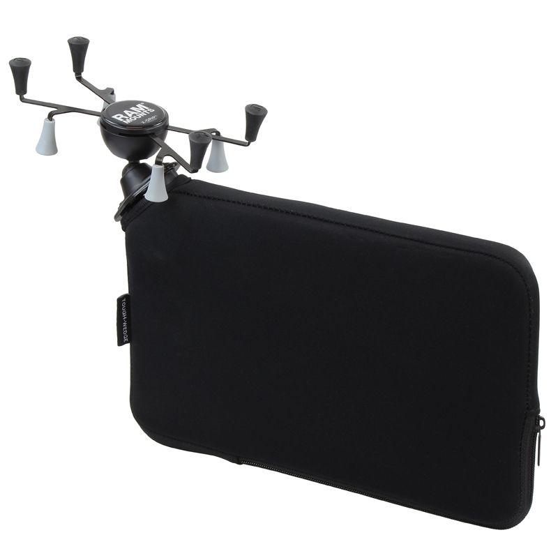 RAM Mounts Fahrzeug-Halterung mit X-Grip Halteklammer für Tablets (7 Zoll) - Tough-Wedge (aufblasbar), direkte Anbindung