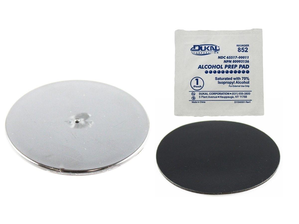 RAM Mounts Klebebasis für Saugfüsse - durchsichtige Basis (ca. 75 mm Durchmesser), im Polybeutel