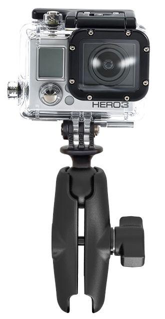 RAM Mounts GoPro Kamera-Set - Verbindungsarm (mittel), GoProAdapter, B-Kugel (1 Zoll)
